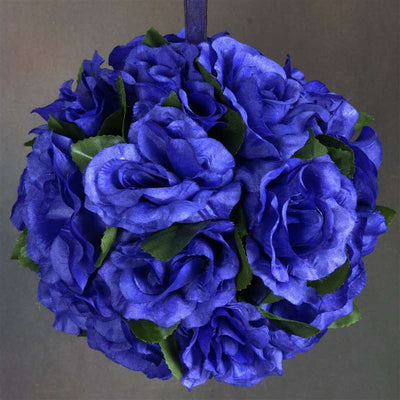 Rose Pomander Kissing Balls - Navy- 4 PCS