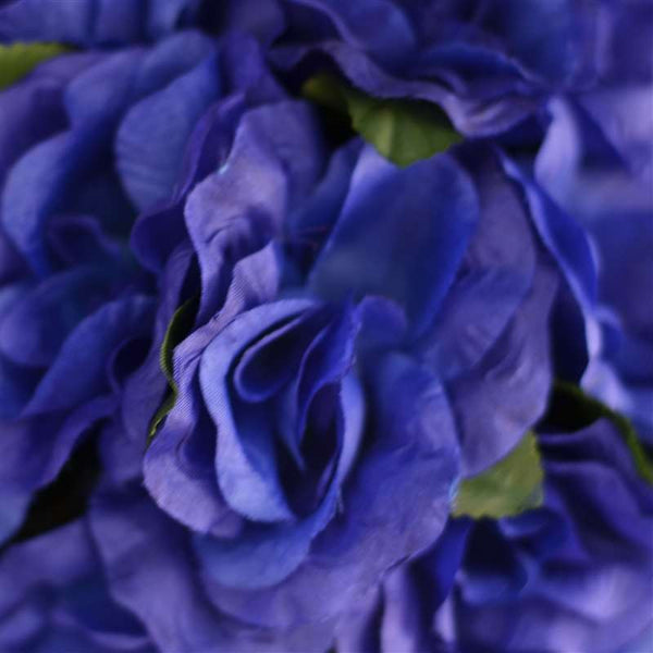 Rose Kissing Ball Artificial Silk Flowers - Navy Blue - 4 pack
