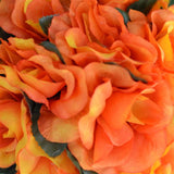 Orange Rose Pomander Kissing Flower Balls Wedding Bouquet Decor - 4 PCS