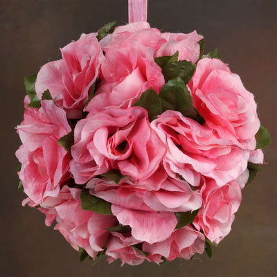 Rose Pomander Kissing Balls - Pink- 4 PCS
