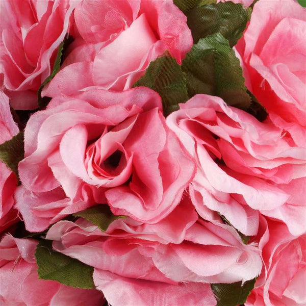 Rose Kissing Ball Artificial Silk Flowers - Pink - 4 pack