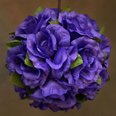 Rose Pomander Kissing Balls - Purple- 4 PCS