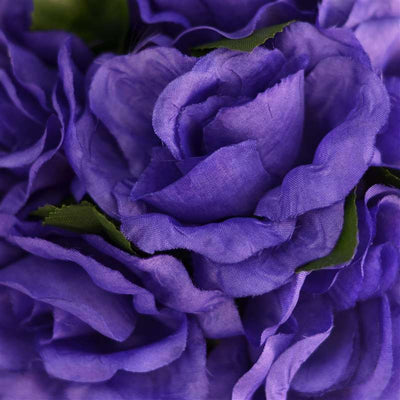 Purple Rose Pomander Kissing Flower Balls Wedding Bouquet Decor - 4 PCS