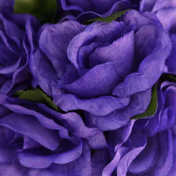 Rose Kissing Ball Artificial Silk Flowers - Purple - 4 pcs