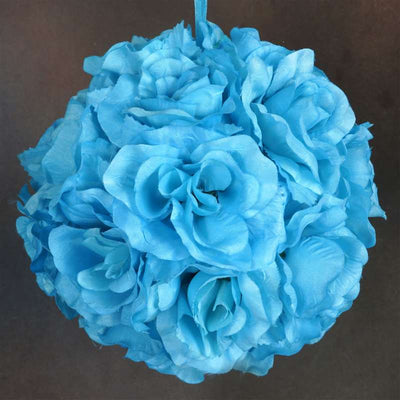 Rose Pomander Kissing Balls - Turquoise- 4 PCS