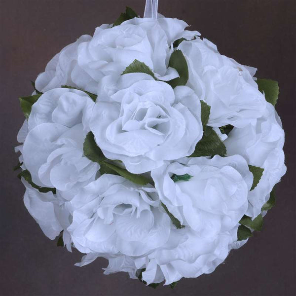 Rose Pomander Kissing Balls - White- 4 PCS