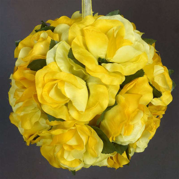 Rose Pomander Kissing Balls - Yellow- 4 PCS