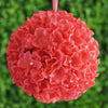 Hydrangea Kissing Ball Artificial Silk Flowers - Coral - 4 pack
