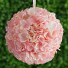Hydrangea Kissing Ball Artificial Silk Flowers - Blush - 4 pack
