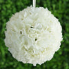 Hydrangea Kissing Ball Artificial Silk Flowers - Cream - 4 pack