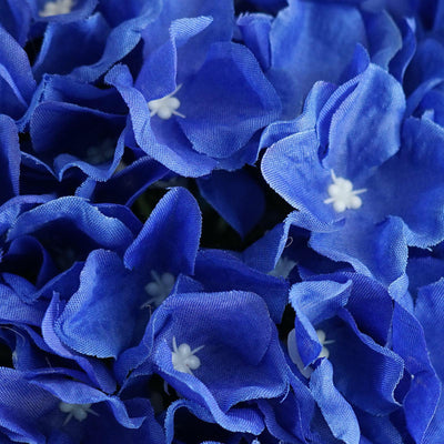 Hydrangea Kissing Ball Artificial Silk Flowers - Royal Blue - 4 pack