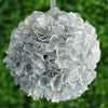 Hydrangea Kissing Ball Artificial Silk Flowers - Silver - 4 pack