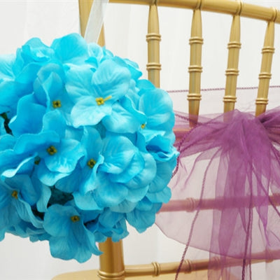 4 x ALWAYS SUNNY Hydrangea Kissing Balls - Turquoise