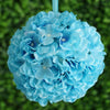 Hydrangea Kissing Ball Artificial Silk Flowers - Turquoise - 4 pack