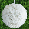 Hydrangea Kissing Ball Artificial Silk Flowers - White - 4 pack