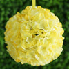 Hydrangea Kissing Ball Artificial Silk Flowers - Yellow - 4 pack