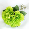 Open Rose Bouquet Artificial Silk Flowers - Lime Green