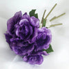 Open Rose Bouquet Artificial Silk Flowers - Purple