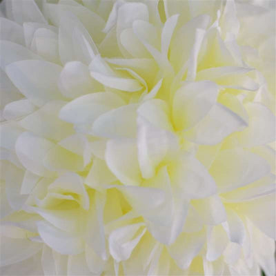 Dahlia Kissing Ball Artificial Silk Flowers - Cream - 4 pack
