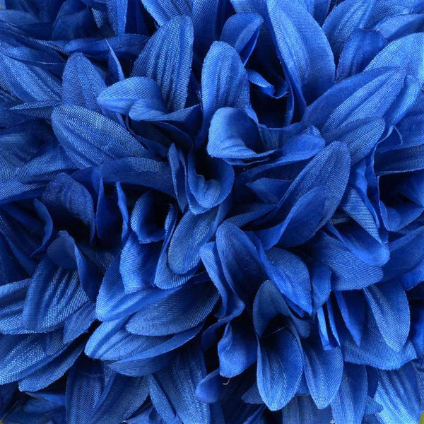 Royal Blue Artificial Dahlia Kissing Flower Balls Wedding Hanging Decor - 4 PCS