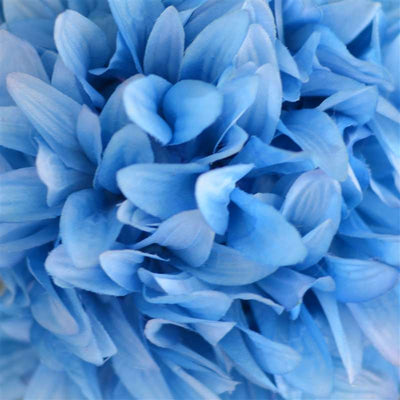 Dahlia Kissing Ball Artificial Silk Flowers - Turquoise - 4 pack