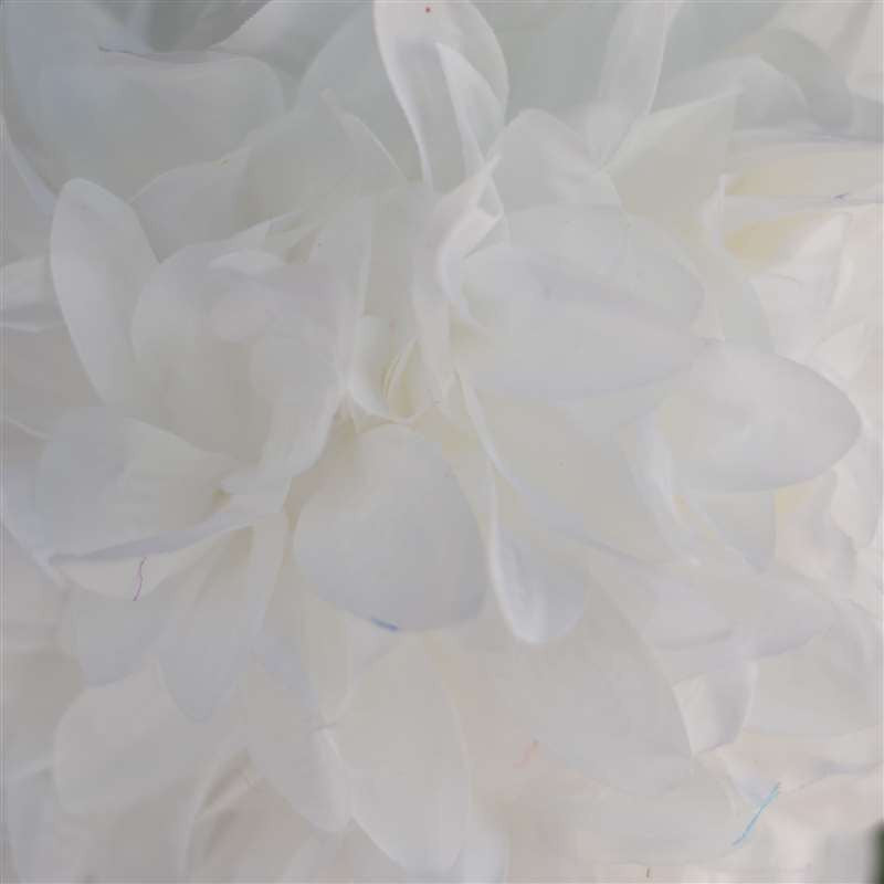 White Artificial Dahlia Kissing Flower Balls Wedding Hanging Decor - 4 PCS