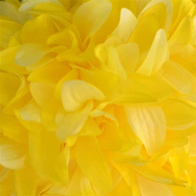Dahlia Kissing Ball Artificial Silk Flowers - Yellow - 4 pack