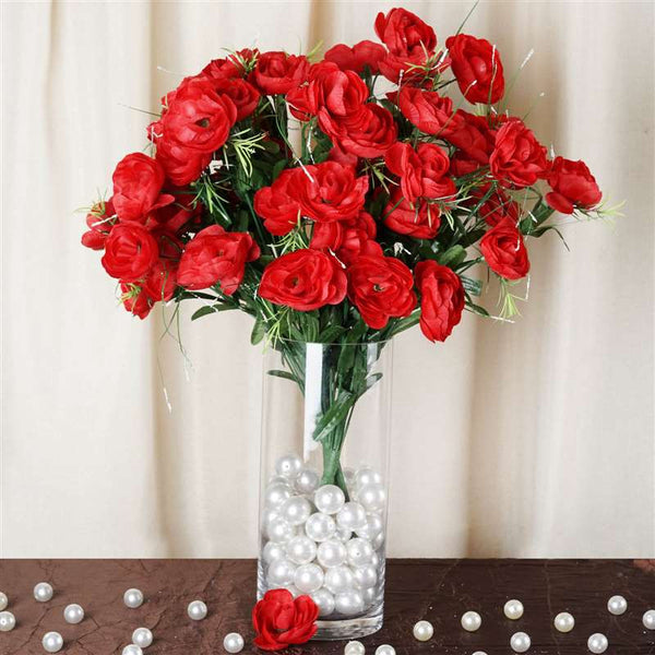 72 Buttercup Ranunculus Bulb Flowers Red