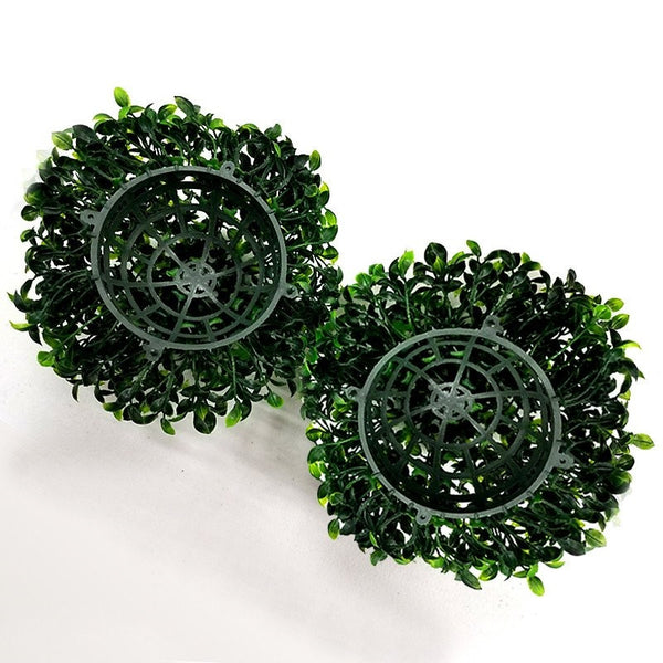 Boxwood Kissing Ball Artificial Silk Flowers - 4 pack