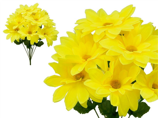 108 Artificial Westfield Alba Flowers Bridal Bouquet Wedding Vase Centerpiece Decor - Yellow