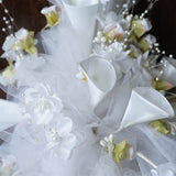 Hand-crafted Bouquet of Tulips & Lillies - White