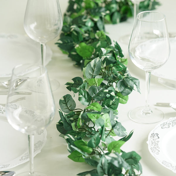 Artificial Ivy Pothos Garland - 6 ft
