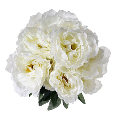 Artificial Peony Wedding Flower Bush Bouquet Centerpiece Decor - Buy 1 Get 3 Free - Cream