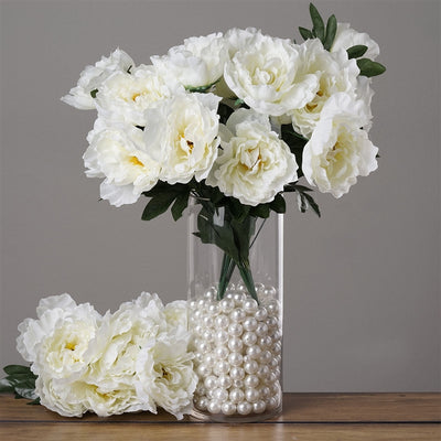 4 PCS Cream Silk Peony Wedding Bridal Bridesmaid Flower Bouquet