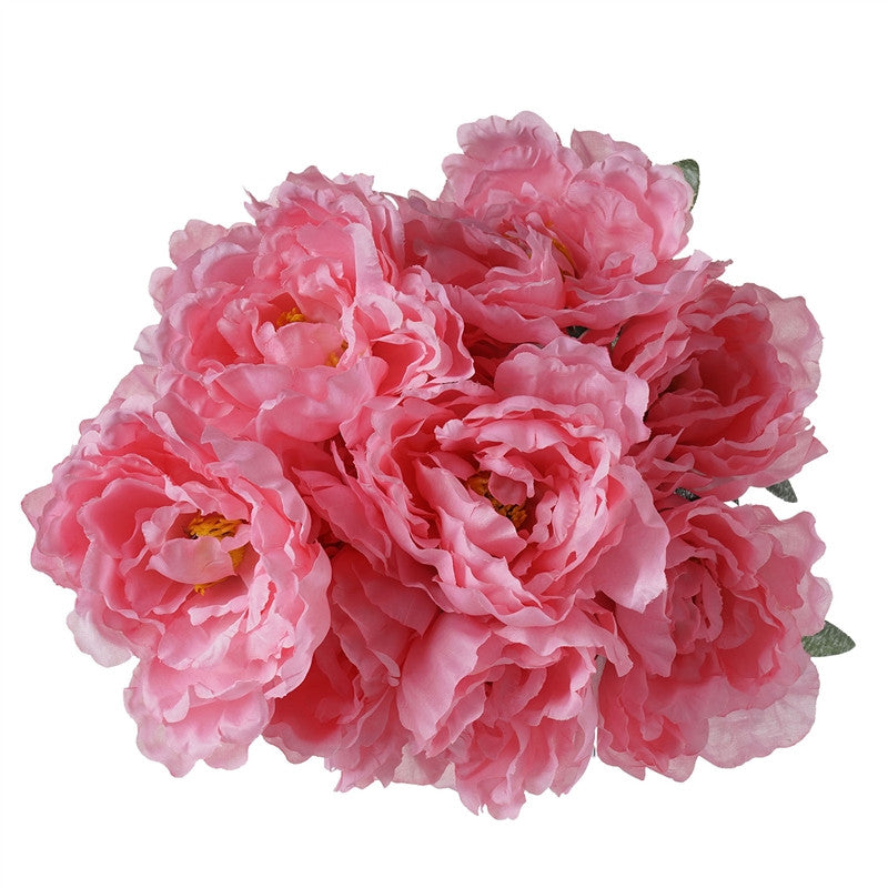 4 PCS Pink Silk Peony Wedding Bridal Bridesmaid Flower Bouquet