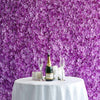 Hydrangea Artificial Flower Wall Mat Panel - Purple - 4 panels