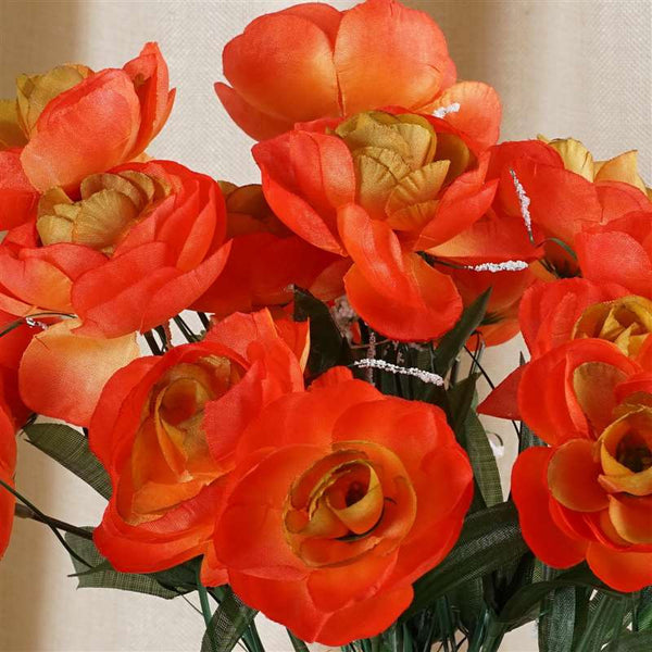 84 Silk Camellia - Orange