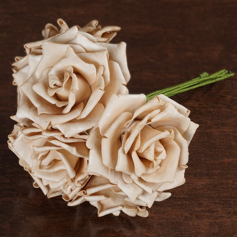 6 Fascinating Foam Rose Bouquets - Natural