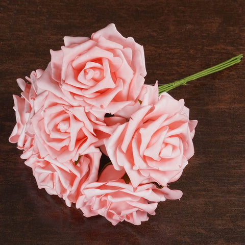 6 Fascinating Foam Rose Bouquets - Pink