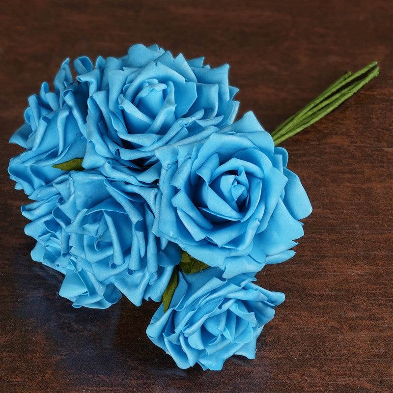 36 Artificial Foam Rose Flowers for Wedding Bouquet Vase Centerpiece ...