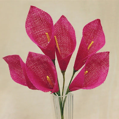 36 Fushia Burlap Calla Lilies Wedding Party DIY Crafts Decoration