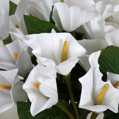 "13"" Calla Lily Bush Artificial Silk Flowers - White"
