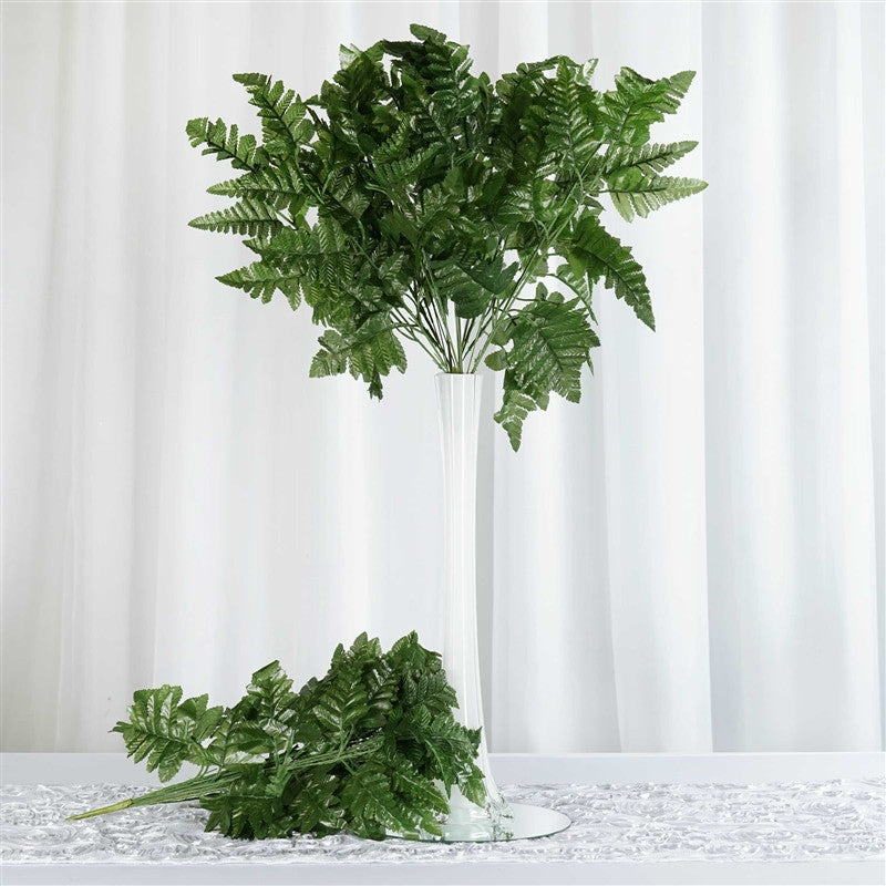 Wholesale artificial leather fern branches wedding