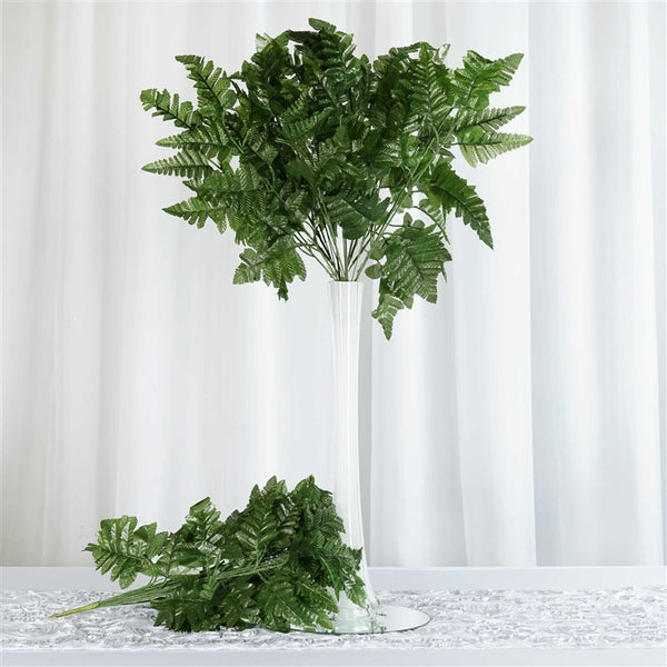 144 Wholesale Artificial Leather Fern Branches Wedding