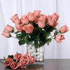 Small Rose Buds Artificial Silk Flowers - Blush