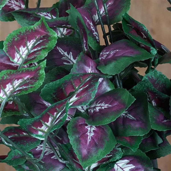 IVY Coleus Leaf Bushes Wedding Arch Gazebo Floral Decoration - Green/Purple - Buy 1 Get 3 Free