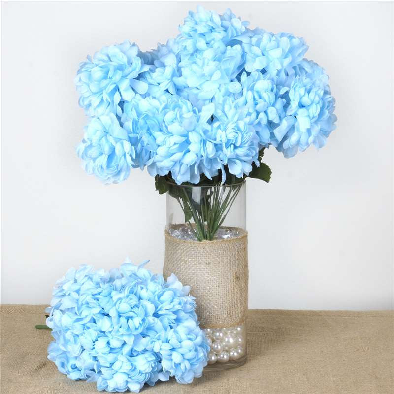 56 chrysanthemum mum balls lt blue silk flowers factory 56 artificial light blue silk chrysanthemum flowers bush wedding bridal bouquet vase decoration 56 chrysanthemum mum balls light blue mightylinksfo