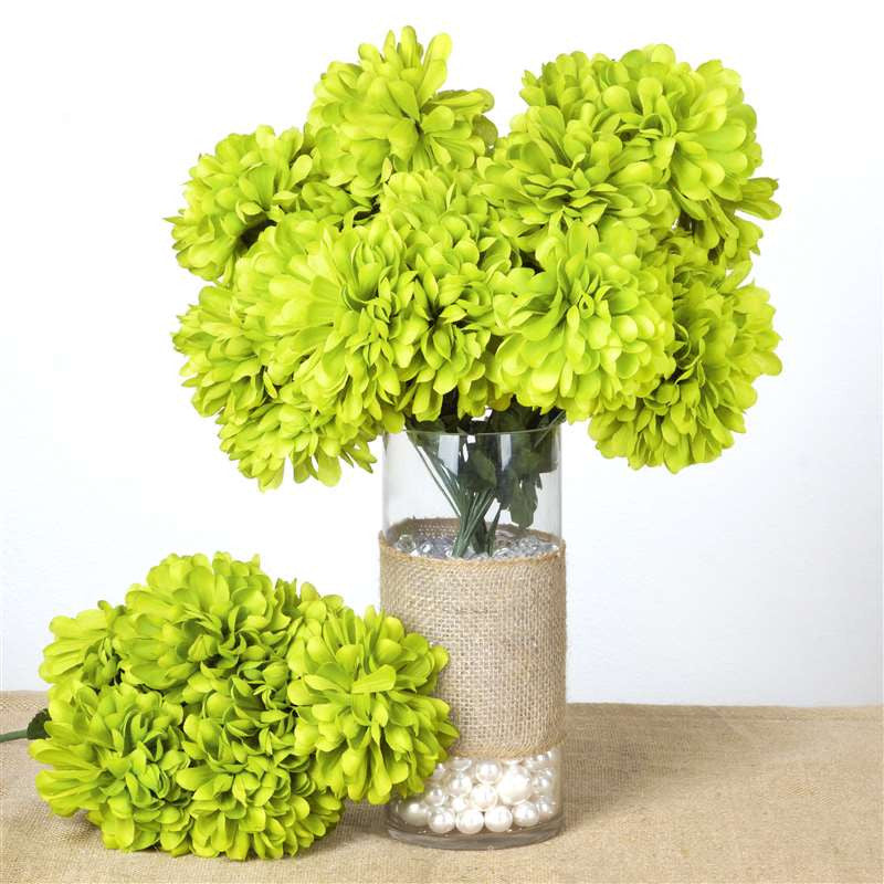 56 chrysanthemum mum balls lime silk flowers factory 56 chrysanthemum mum balls lime 56 artificial lime green silk chrysanthemum flowers mightylinksfo Images