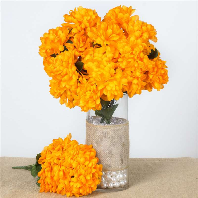 56 Chrysanthemum Mum Balls - Orange