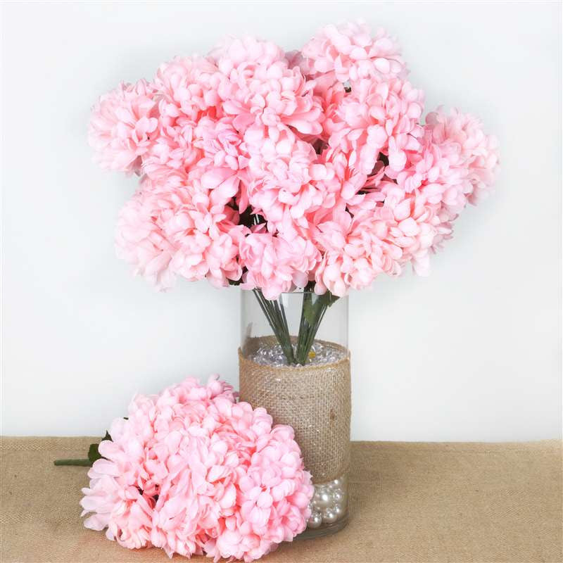 56 chrysanthemum mum balls pink silk flowers factory 56 artificial pink silk chrysanthemum flowers bush wedding bridal bouquet vase decoration 56 chrysanthemum mum balls pink mightylinksfo